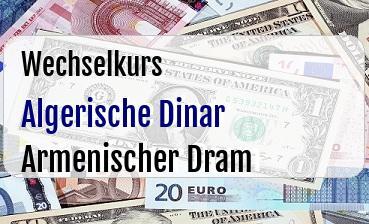 Algerische Dinar in Armenischer Dram