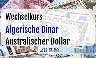Algerische Dinar in Australischer Dollar
