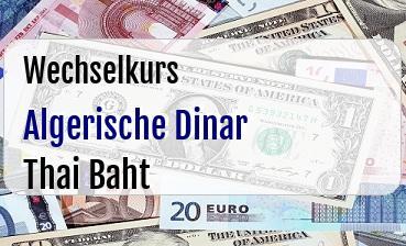 Algerische Dinar in Thai Baht
