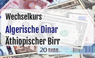 Algerische Dinar in Äthiopischer Birr