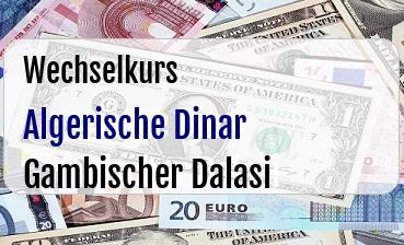 Algerische Dinar in Gambischer Dalasi