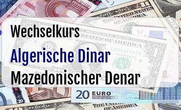Algerische Dinar in Mazedonischer Denar