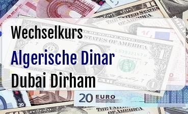 Algerische Dinar in Dubai Dirham