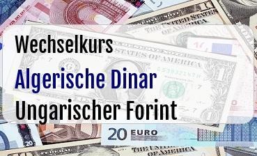 Algerische Dinar in Ungarischer Forint