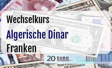 Algerische Dinar in Schweizer Franken