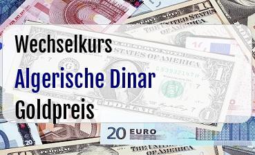 Algerische Dinar in Goldpreis