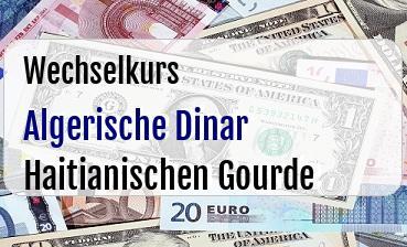 Algerische Dinar in Haitianischen Gourde