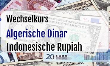 Algerische Dinar in Indonesische Rupiah