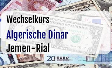 Algerische Dinar in Jemen-Rial