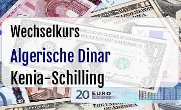 Algerische Dinar in Kenia-Schilling
