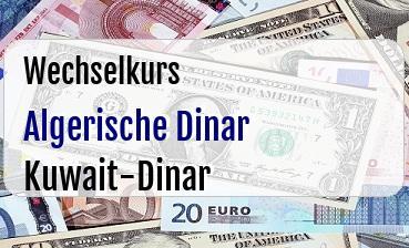Algerische Dinar in Kuwait-Dinar