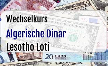 Algerische Dinar in Lesotho Loti