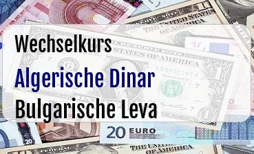 Algerische Dinar in Bulgarische Leva