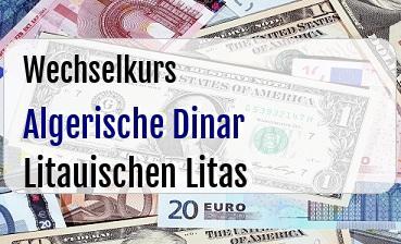 Algerische Dinar in Litauischen Litas