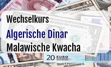 Algerische Dinar in Malawische Kwacha