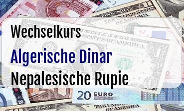 Algerische Dinar in Nepalesische Rupie