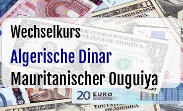 Algerische Dinar in Mauritanischer Ouguiya