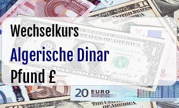 Algerische Dinar in Britische Pfund