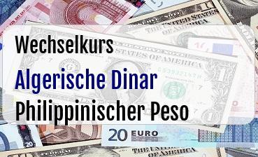 Algerische Dinar in Philippinischer Peso