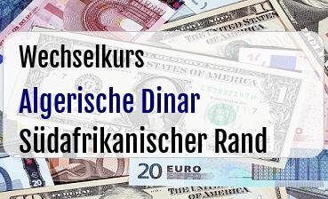 Algerische Dinar in Südafrikanischer Rand