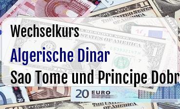 Algerische Dinar in Sao Tome und Principe Dobra