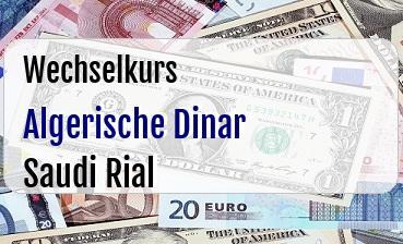Algerische Dinar in Saudi Rial