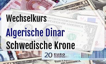 Algerische Dinar in Schwedische Krone