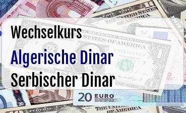 Algerische Dinar in Serbischer Dinar
