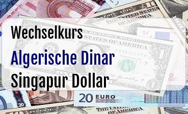 Algerische Dinar in Singapur Dollar