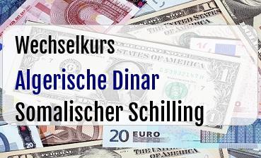 Algerische Dinar in Somalischer Schilling