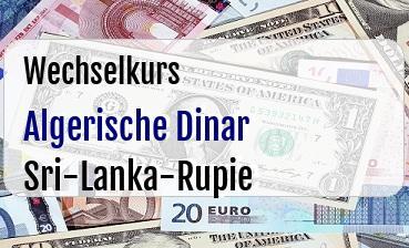Algerische Dinar in Sri-Lanka-Rupie