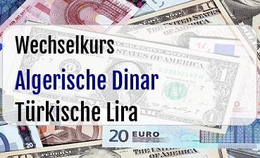 Algerische Dinar in Türkische Lira