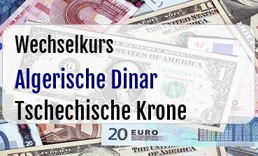 Algerische Dinar in Tschechische Krone