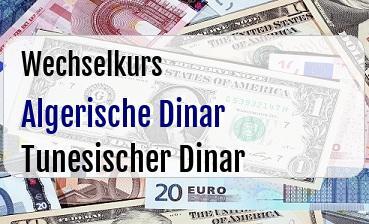 Algerische Dinar in Tunesischer Dinar
