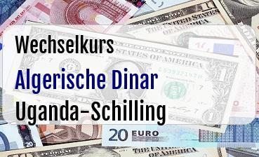 Algerische Dinar in Uganda-Schilling