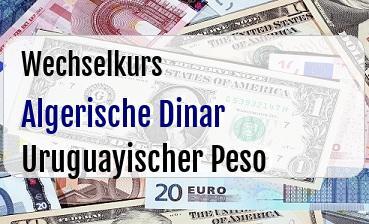 Algerische Dinar in Uruguayischer Peso