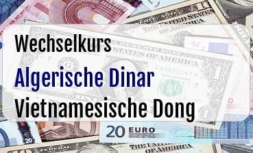 Algerische Dinar in Vietnamesische Dong