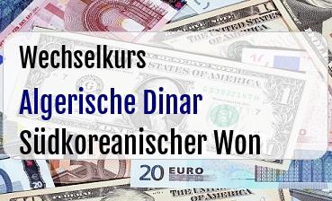Algerische Dinar in Südkoreanischer Won