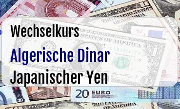 Algerische Dinar in Japanischer Yen