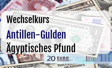 Antillen-Gulden in Ägyptisches Pfund