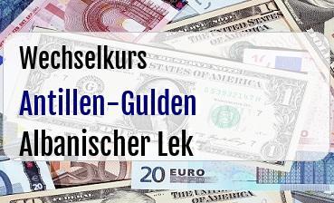 Antillen-Gulden in Albanischer Lek