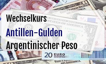 Antillen-Gulden in Argentinischer Peso