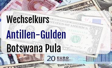 Antillen-Gulden in Botswana Pula