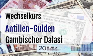 Antillen-Gulden in Gambischer Dalasi