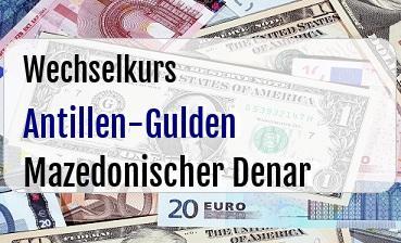 Antillen-Gulden in Mazedonischer Denar