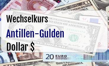 Antillen-Gulden in US Dollar