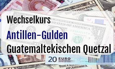 Antillen-Gulden in Guatemaltekischen Quetzal