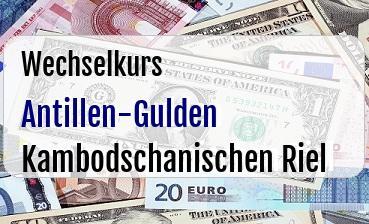 Antillen-Gulden in Kambodschanischen Riel