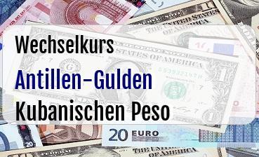 Antillen-Gulden in Kubanischen Peso