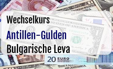 Antillen-Gulden in Bulgarische Leva